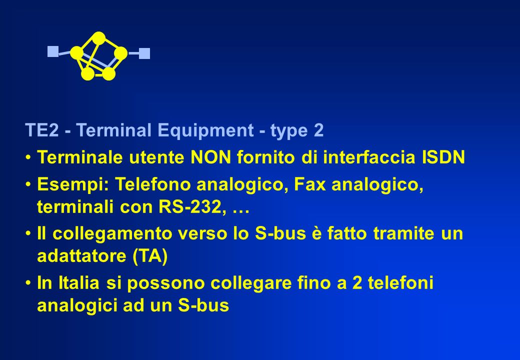 TE2 - Terminal Equipment - type 2