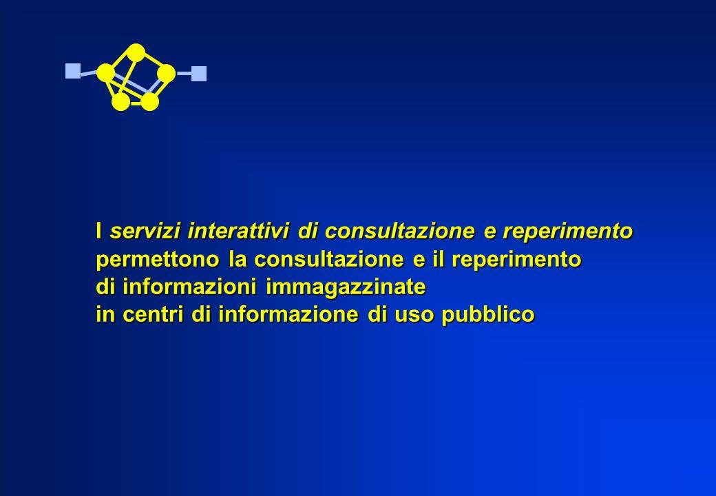 I servizi interattivi di consultazione e reperimento