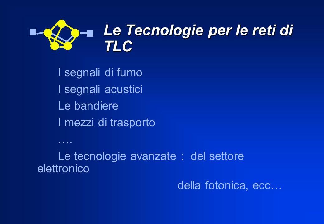 Le Tecnologie per le reti di TLC