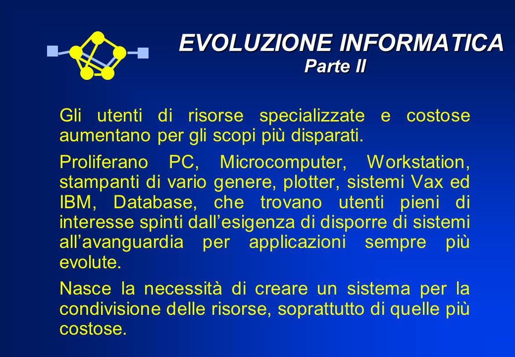 EVOLUZIONE INFORMATICA Parte II