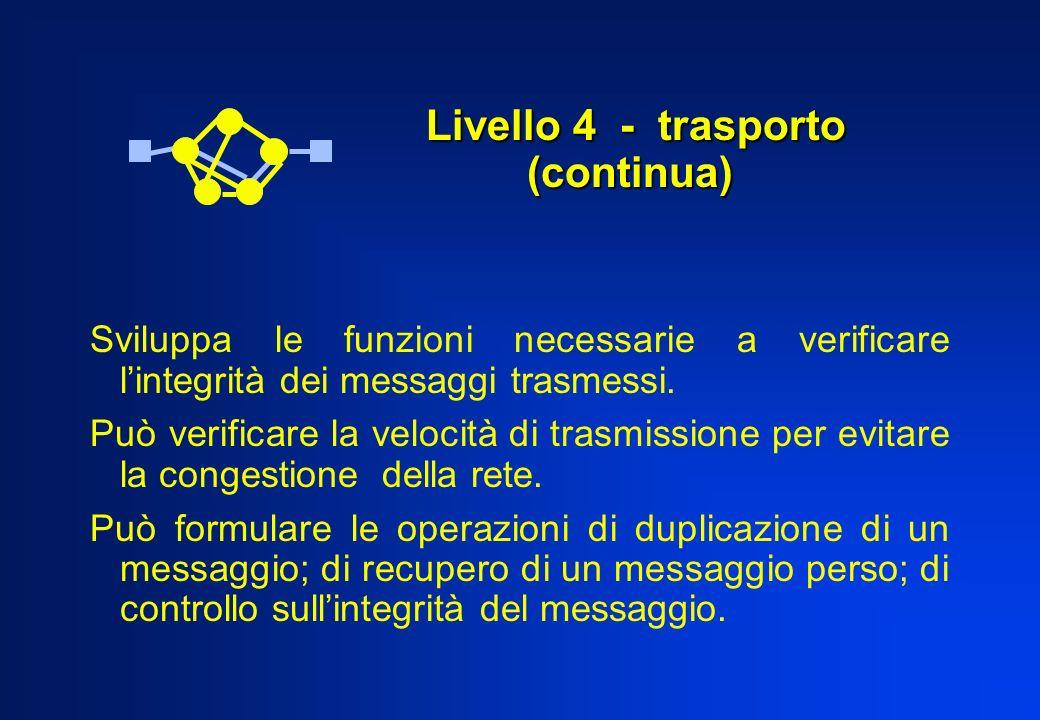 Livello 4 - trasporto (continua)