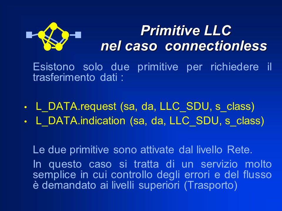 Primitive LLC nel caso connectionless