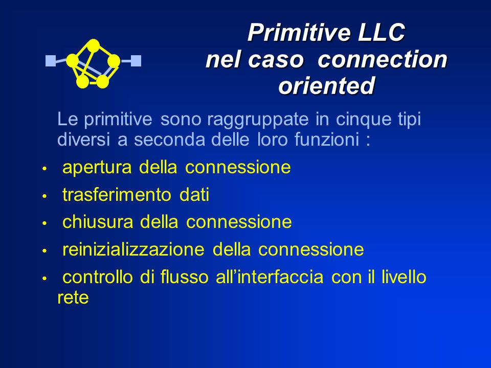 Primitive LLC nel caso connection oriented
