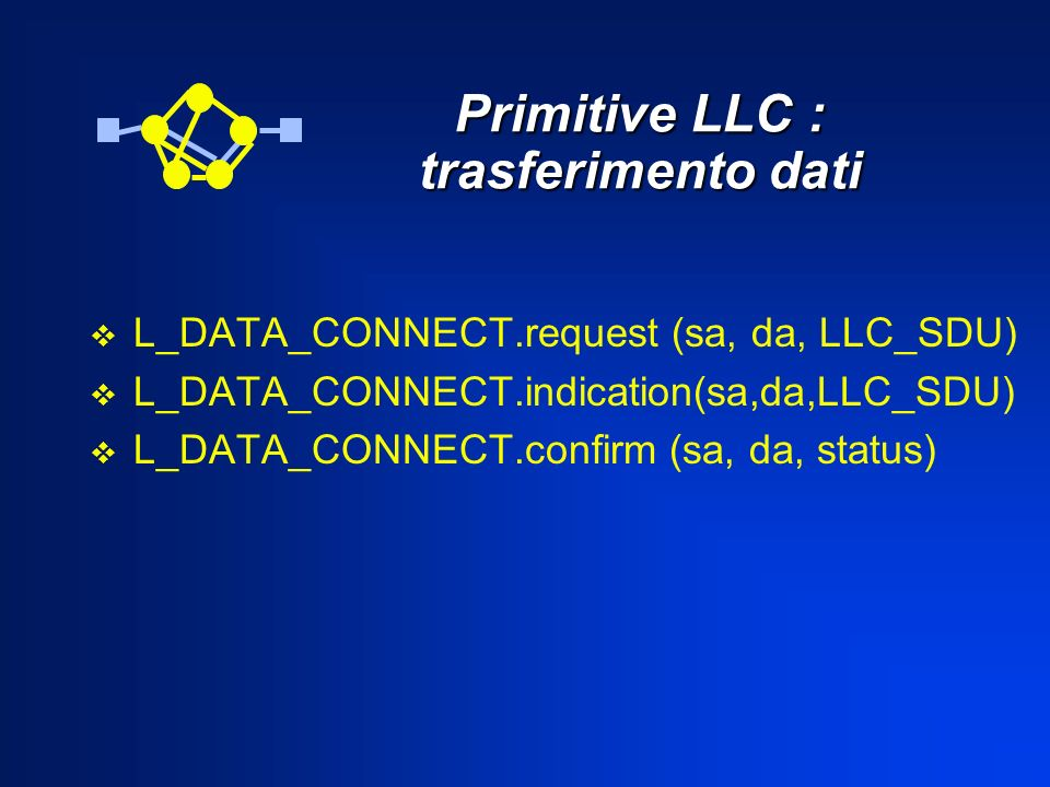 Primitive LLC : trasferimento dati