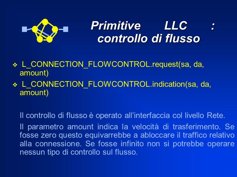 Primitive LLC : controllo di flusso