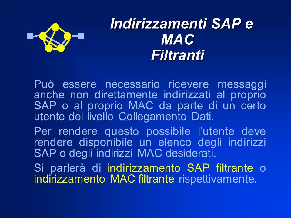 Indirizzamenti SAP e MAC Filtranti