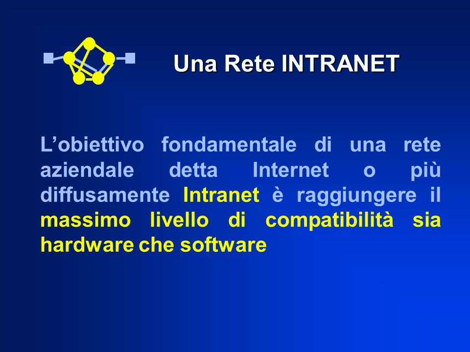 Una Rete INTRANET