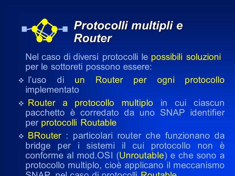 Protocolli multipli e Router