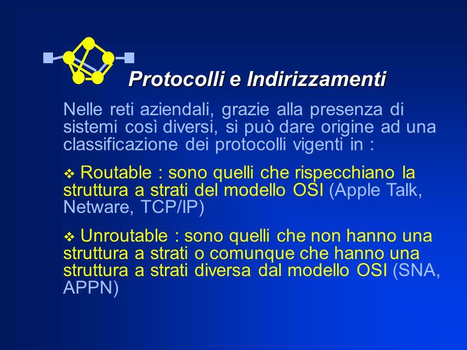Protocolli e Indirizzamenti