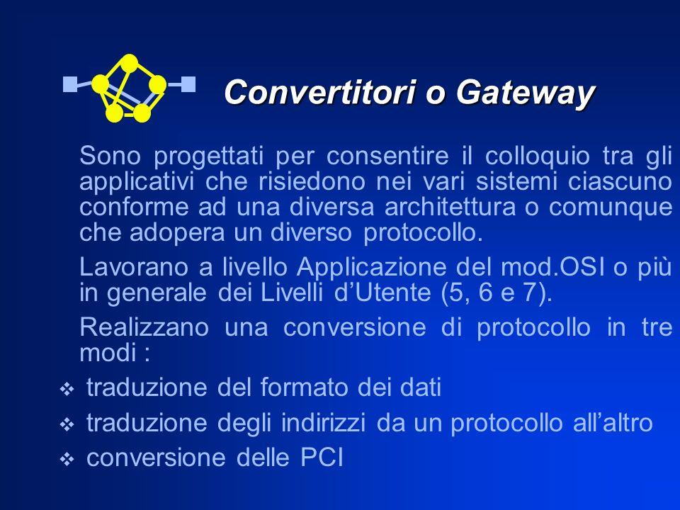 Convertitori o Gateway
