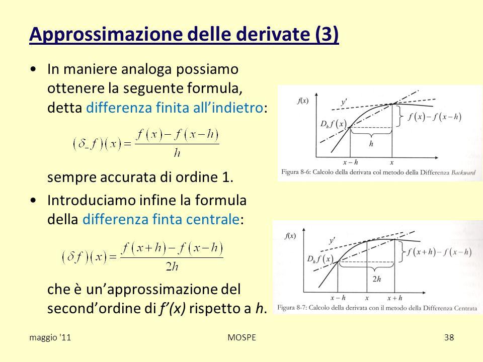 Approssimazione delle derivate (3)