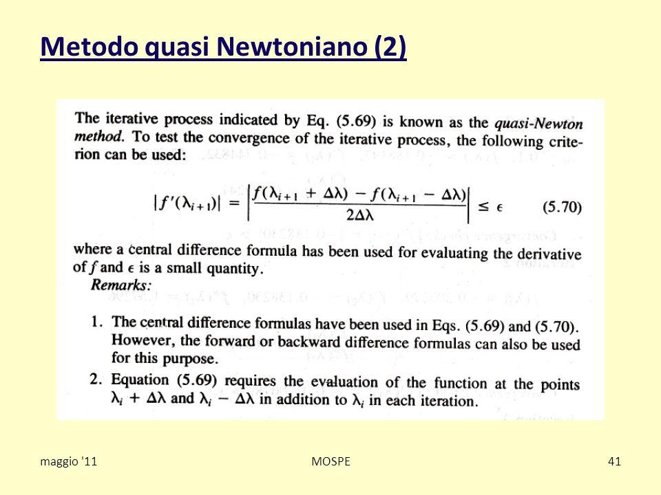 Metodo quasi Newtoniano (2)