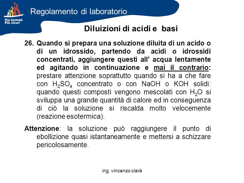 Diluizioni di acidi e basi