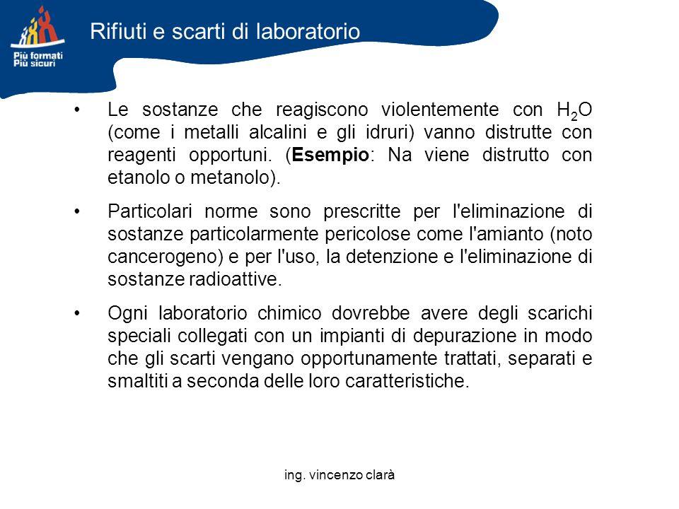 Rifiuti e scarti di laboratorio