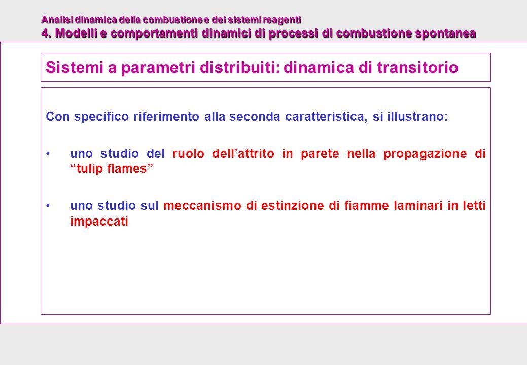 Sistemi a parametri distribuiti: dinamica di transitorio