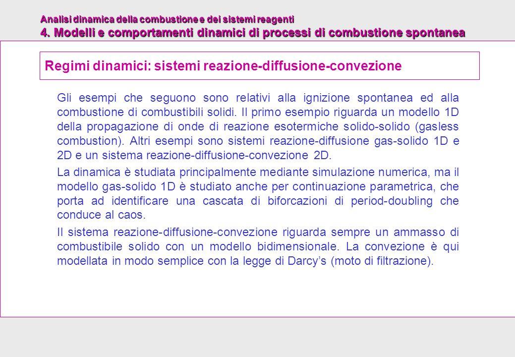 Regimi dinamici: sistemi reazione-diffusione-convezione
