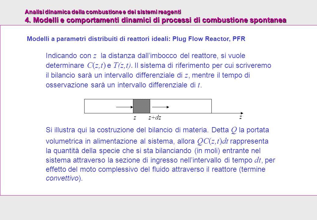 Modelli a parametri distribuiti di reattori ideali: Plug Flow Reactor, PFR