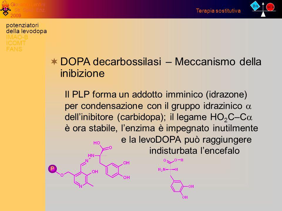 DOPA decarbossilasi – Meccanismo della inibizione