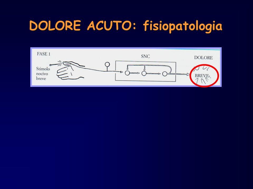 DOLORE ACUTO: fisiopatologia
