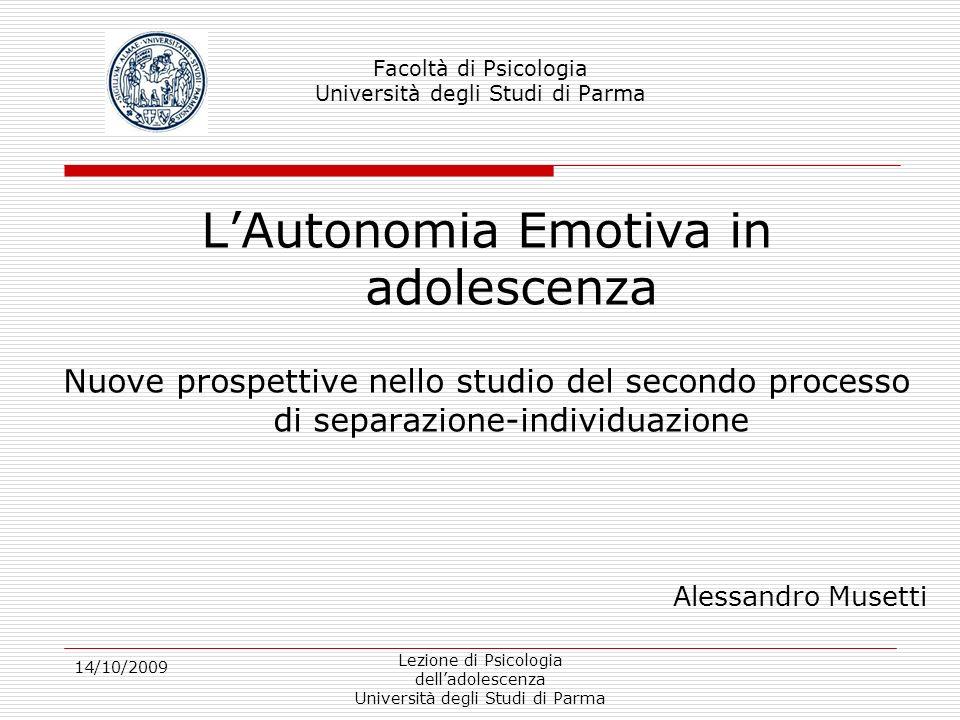 Facoltà di Psicologia Università degli Studi di Parma