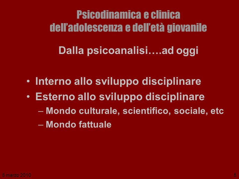Psicodinamica e clinica dell'adolescenza e dell'età giovanile