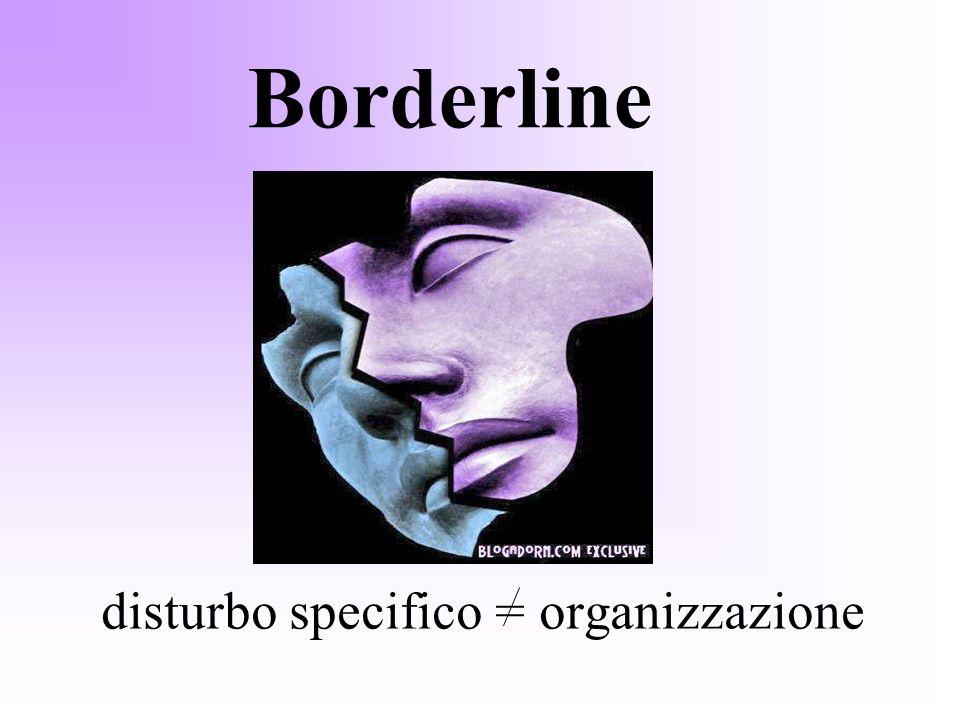 disturbo specifico = organizzazione