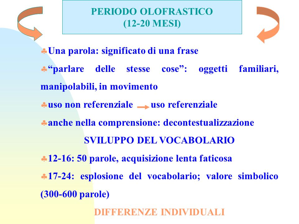 SVILUPPO DEL VOCABOLARIO DIFFERENZE INDIVIDUALI