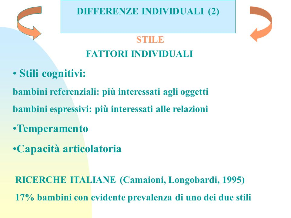 DIFFERENZE INDIVIDUALI (2)