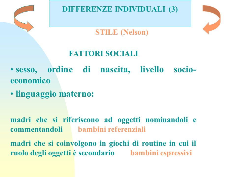 DIFFERENZE INDIVIDUALI (3)