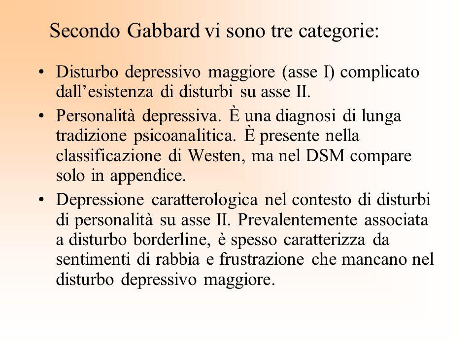 Secondo Gabbard vi sono tre categorie: