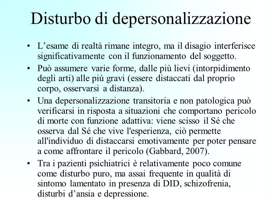 Disturbo di depersonalizzazione