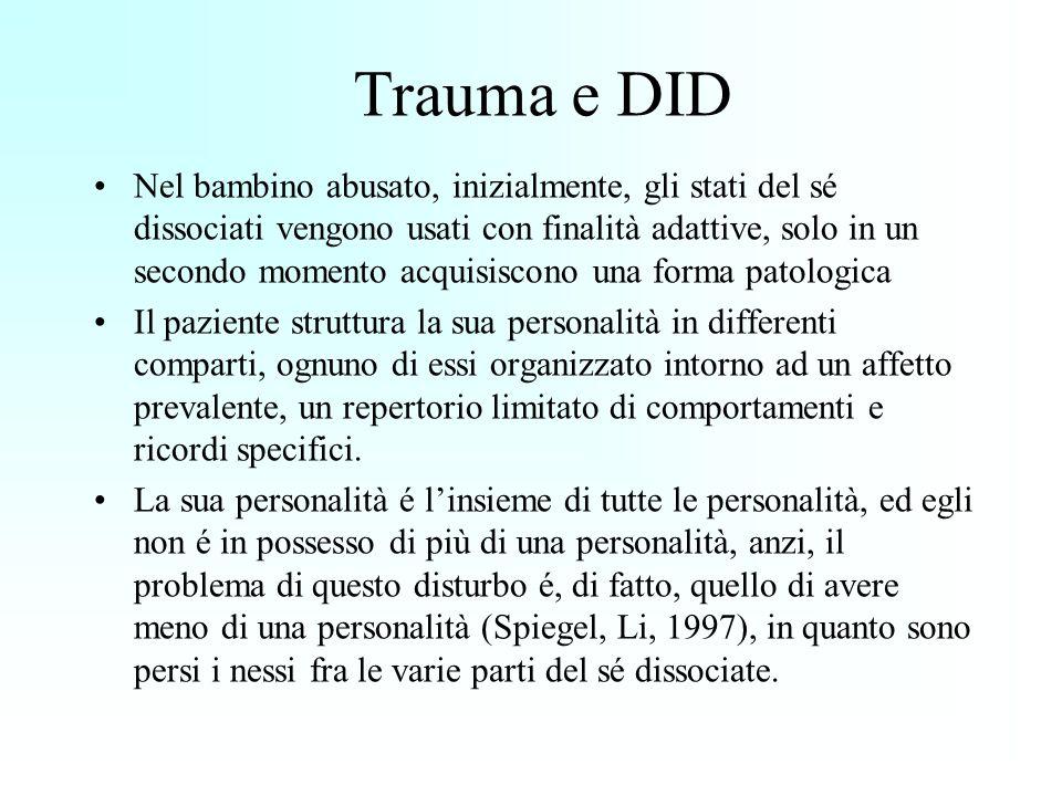 Trauma e DID