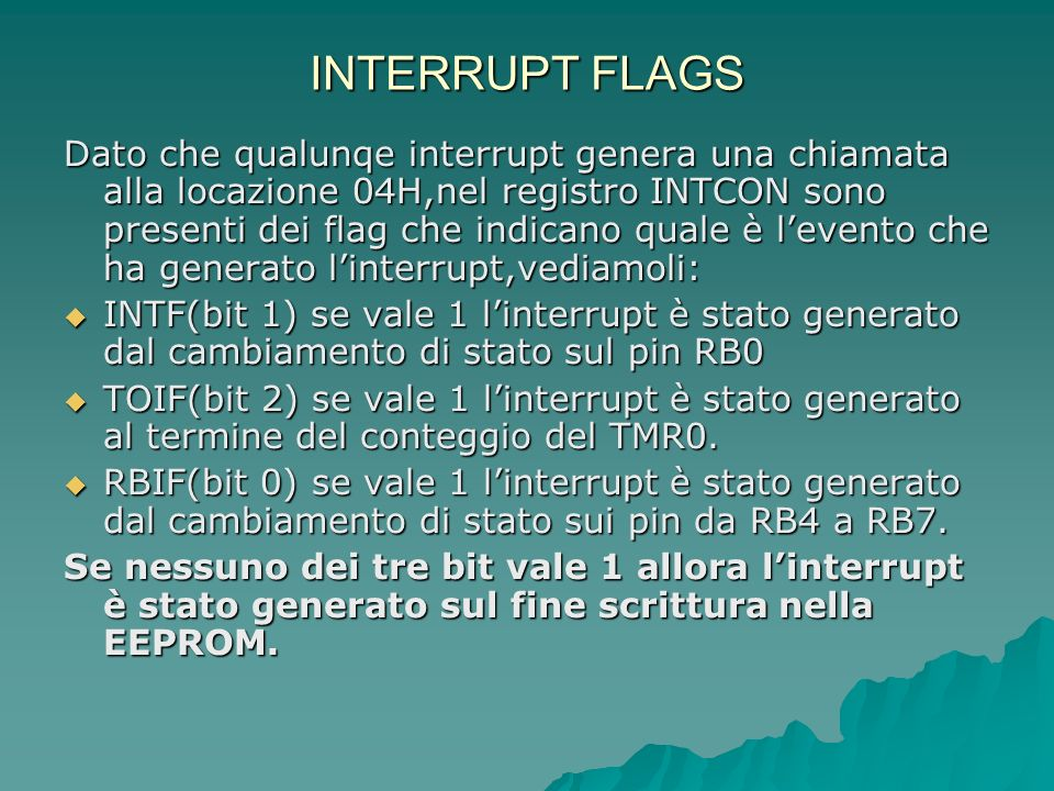 INTERRUPT FLAGS