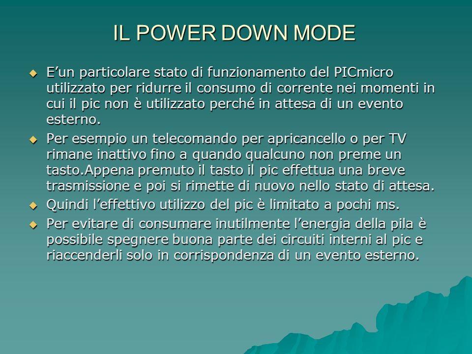 IL POWER DOWN MODE