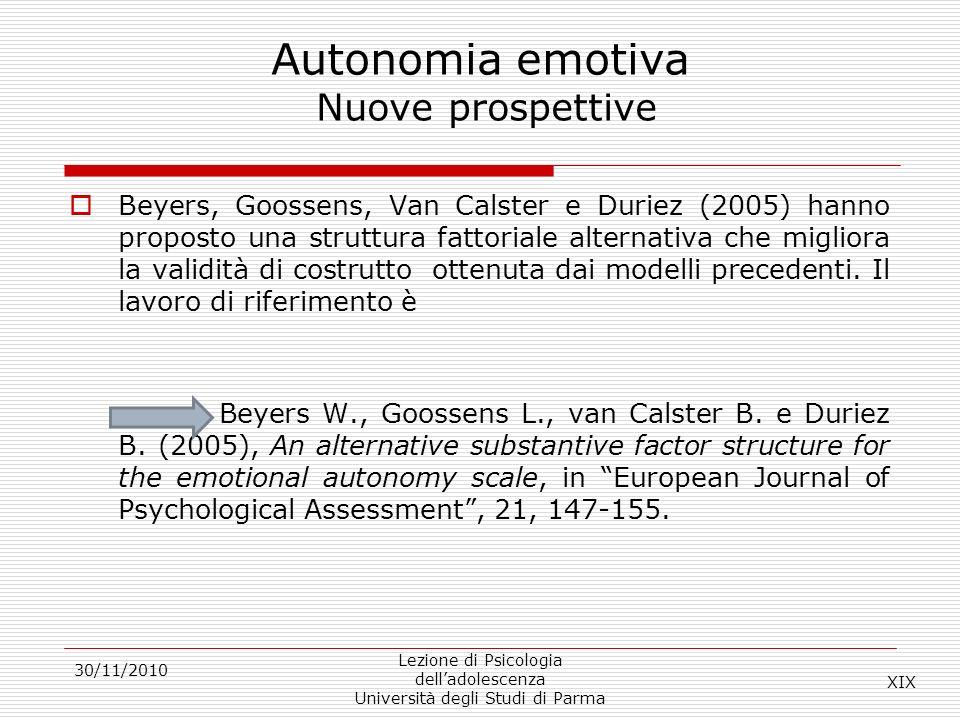 Autonomia emotiva Nuove prospettive