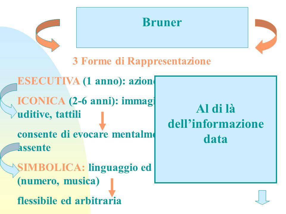 3 Forme di Rappresentazione Al di là dell'informazione data