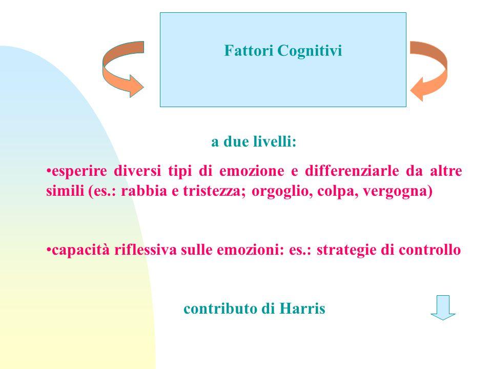 Fattori Cognitivi a due livelli:
