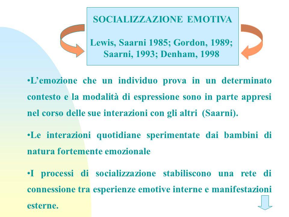 SOCIALIZZAZIONE EMOTIVA