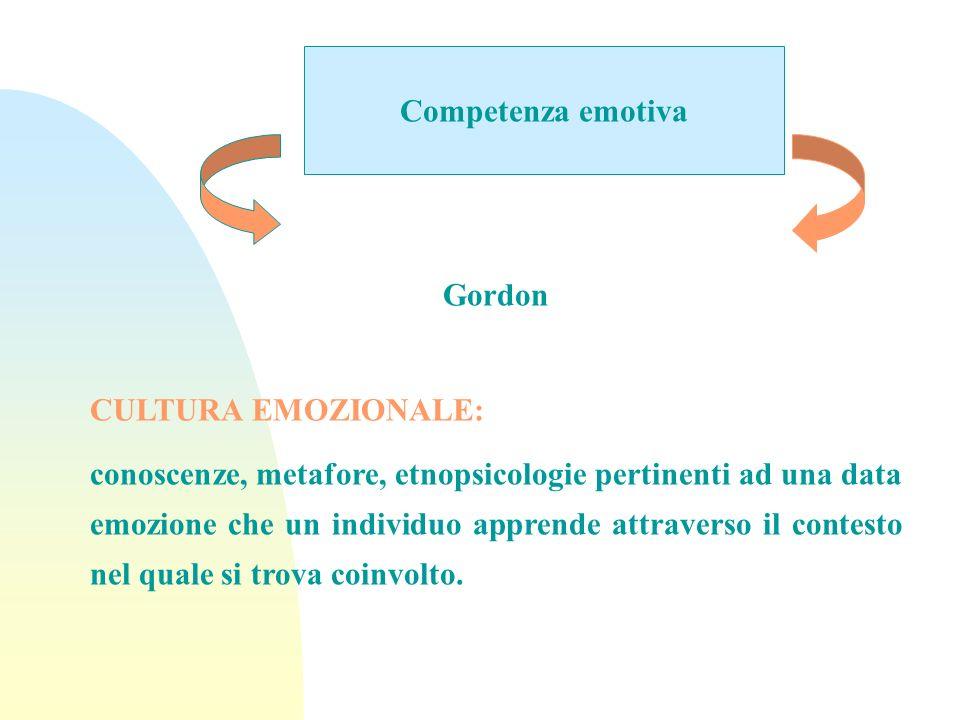 Competenza emotivaGordon. CULTURA EMOZIONALE: