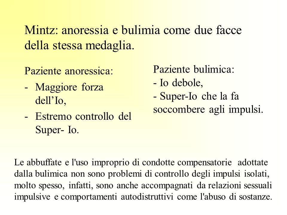 Mintz: anoressia e bulimia come due facce della stessa medaglia.