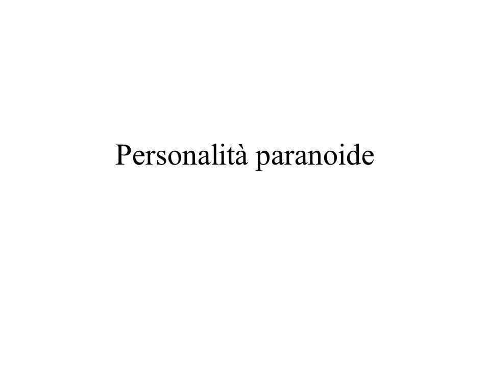 Personalità paranoide