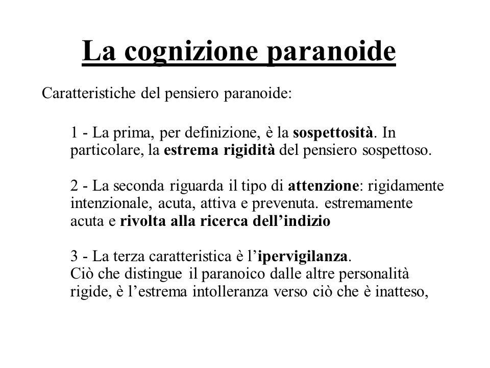 La cognizione paranoide