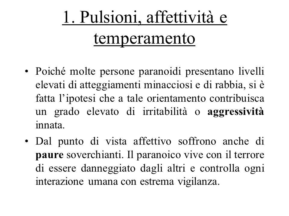 1. Pulsioni, affettività e temperamento