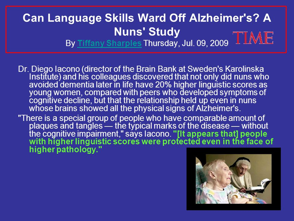 Can Language Skills Ward Off Alzheimer s