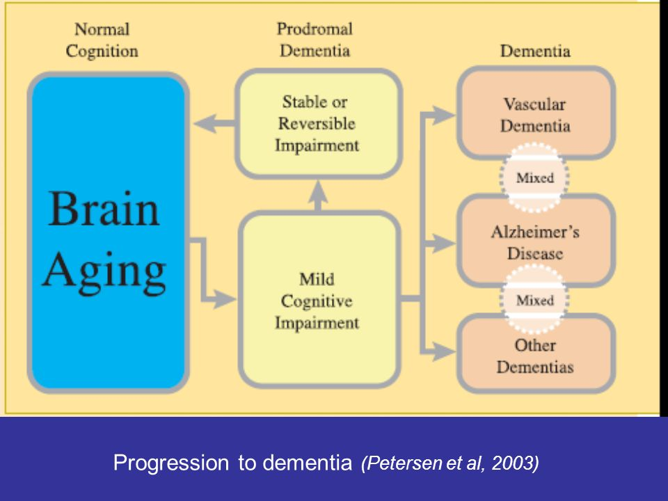 Progression to dementia (Petersen et al, 2003)