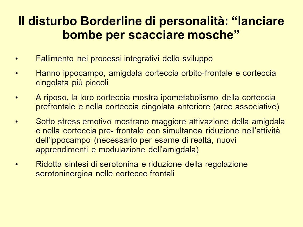 Il disturbo Borderline di personalità: lanciare bombe per scacciare mosche