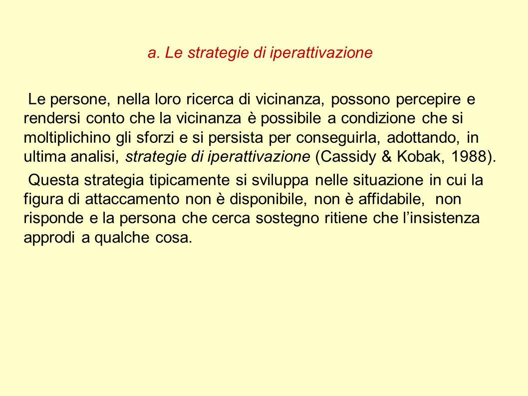 a. Le strategie di iperattivazione