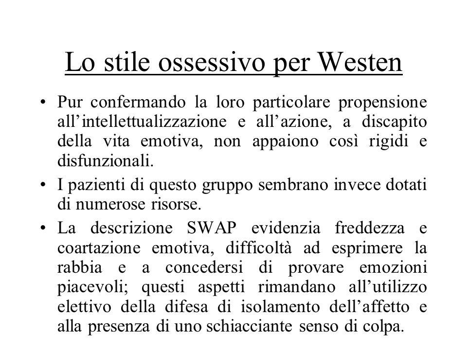 Lo stile ossessivo per Westen