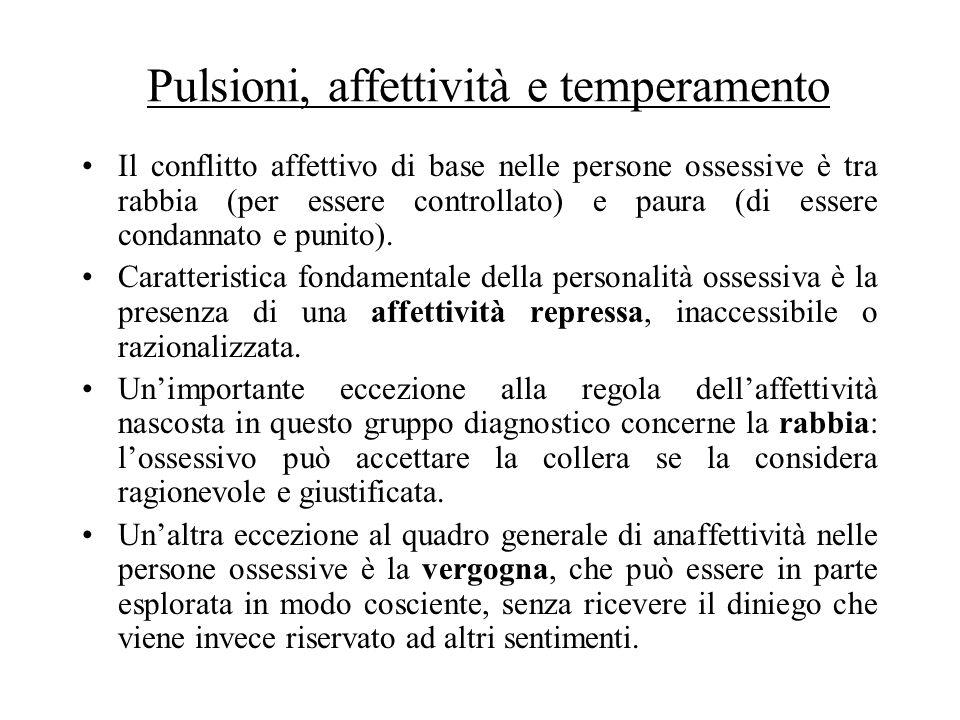 Pulsioni, affettività e temperamento