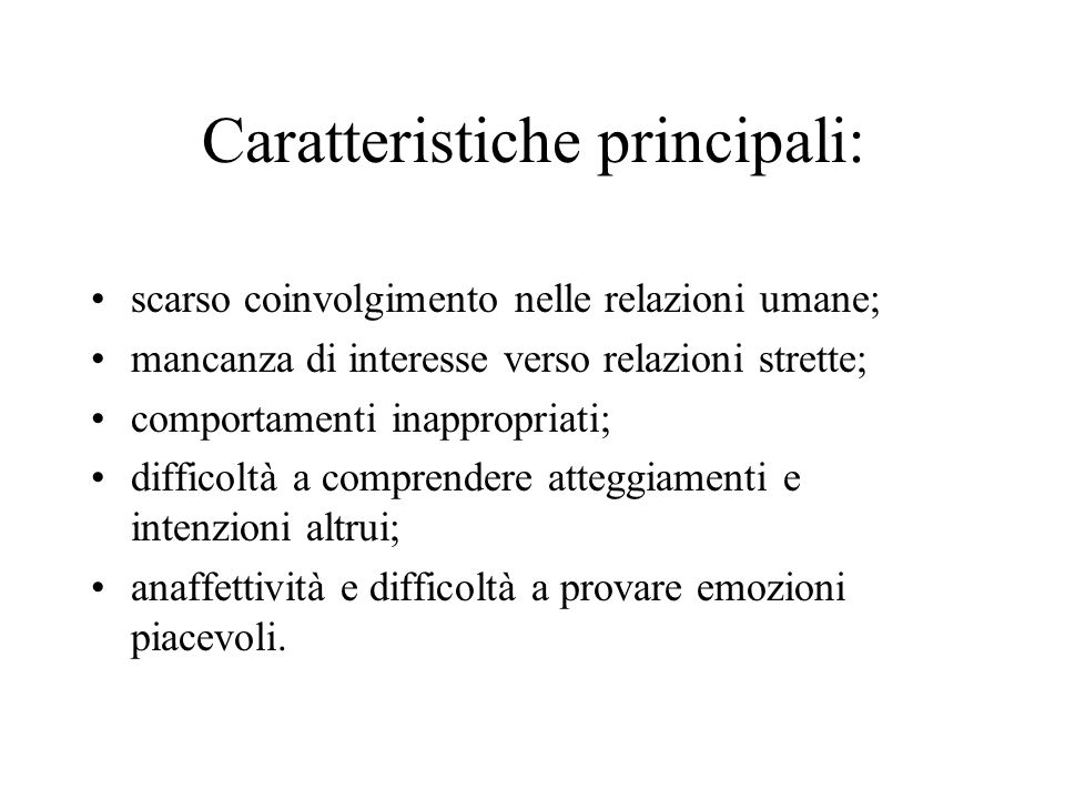 Caratteristiche principali:
